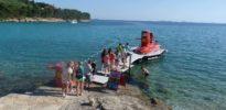 izlet polupodmornicom - Pristanište polupodmornice u Murteru